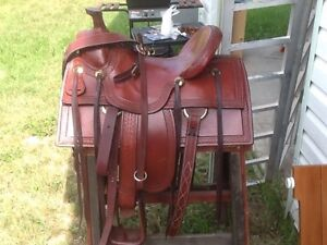 Custom built high country roping saddle Strathcona County Edmonton Area image 2