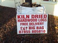 Kiln dried hardwood £69 big bag free delivery