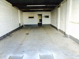 WORKSHOP/STORAGE UNIT WITH OFFICE AND PARKING approx 750sq/ft TO LET