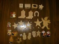 25 Wooden ornaments, magnets, treasure boxes & gift tags