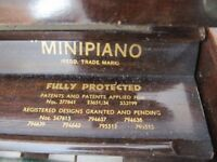 1930's classic Mini piano - Eavestaff . Good condition and regularly tuned