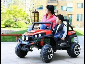 Ride on Jeep for kids 12 volts 4 motors 2 seater BRAND NEW