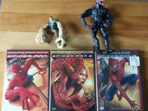 Complete Sealed Spider-Man Trilogy + 2 Toys. $15 Firm
