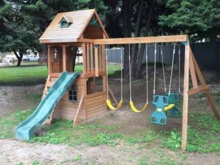 New $1, 200 Outdoor Childrens Playground Slide, Monkey Bars $600