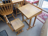 Small Art Desk & Chair with underseat storage
