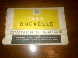 1966 Chevelle Malibu owners manual