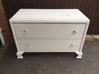 CREAM SHABBY CHIC PROJECT CHEST OF DRAWERS ** FREE DELIVERY AVAILABLE **