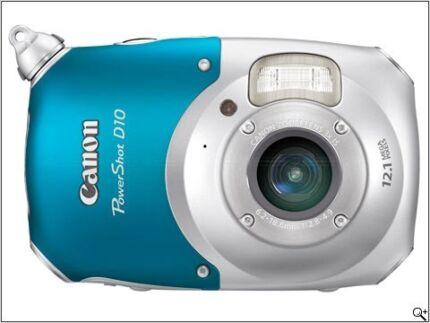 FREE Canon Power shot D10 waterproof camera