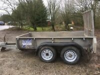 Ifor Williams Plant Trailer ideal for mini digger or landscaper to carry lawn tractors etc