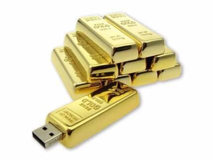 USB flash drive / Memory stick - 16GB - Gold Bar Greenacre Bankstown Area Preview