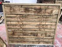 Heavy duty waneylap wooden fence panels