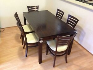 Dinning table with chairs (6) North Strathfield Canada Bay Area Preview