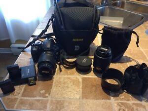Nikon D3100 avec accessoires