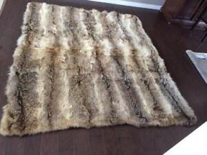 Genuine coyote skin rug