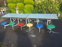 Sico 12 Seat Rectangular Mobile Folding Table Seating Unit, school,