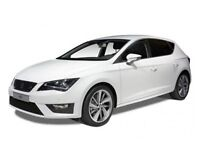 WHITE SEAT LEON TDI 1.6 (TECH PACK) IN GOOD CONDITION WITH LOW MILEAGE (WN13 AEX)