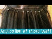 Micro weave hair extensions