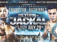 Carl Frampton Tickets x 3