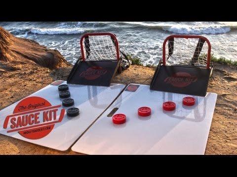 eca37de3991 FREE SHIPPING The Original Hockey Sauce Kit Saucer Pass Game Puck Catcher