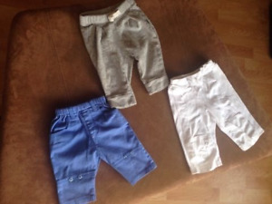 3 Adorable Baby pants 3-6 months for $10 Like New!