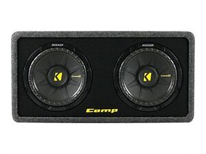 2 kicker Comp series 10 inch subwoofers in a ported box
