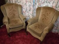 2 fireside armchairs and (free) settee