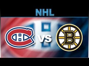Canadiens vs Boston billets rouges