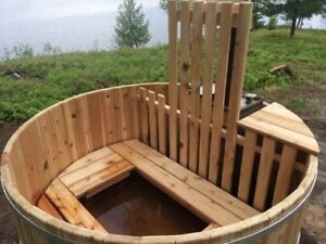 Outdoor Cedar Hot Tub