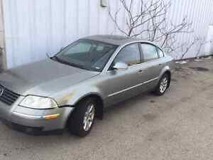 2004 passat 1.8t 4motion all wheel drive for parts or repair