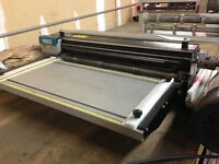 "Port-O-Slitter/Rib forming,24"" wide w/ feed up guide 2"" Arbors,"