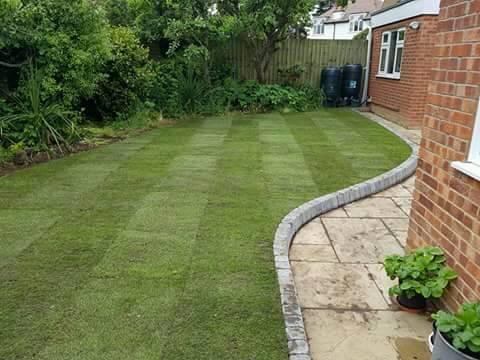 Landscape contractor garden services slabbing turfing fencing