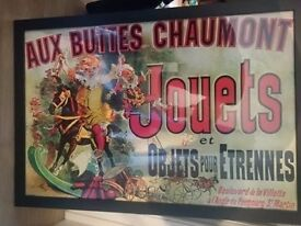 """Poster French style """"Aux Buttes Chaumont"""""""