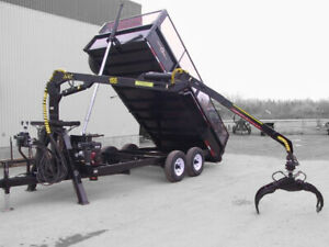 On-Road Forestry Dump Trailer with Grapple Loader and Power Pack