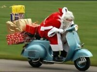 BILLY BROOKS ON HIS WAY TO ANOTHER CHRISTMAS PARTY....HO HO HO!