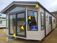 Brand new 6 berth static caravan for sale by Norfolk beach, near Gt Yarmouth, 2018 fees included