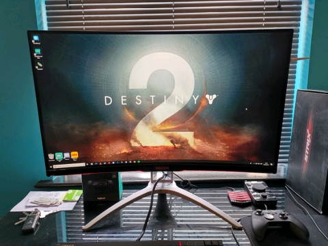 AOC Agon AG322QCX 1440p 144hz 32 inch curved gaming monitor | in Ipswich,  Suffolk | Gumtree