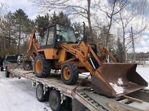 Equipment Float Tractors Backhoes Freight Trailers Delivery