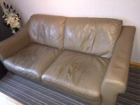 3 seater leather sofa with 2 single chairs.