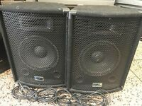 Fantastic pro audio gig rig performance 75 watt speakers with leads great sound