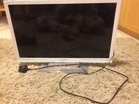 Used 22 inch Sharp TV - White, Used, Perfect working order!