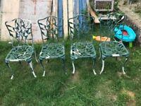 garden chairs cast alamimium