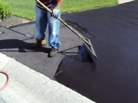 Asphalt Driveway Sealing - Brushed On