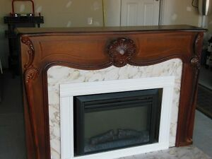 Antique fireplace with insert
