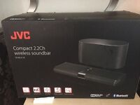 JVC SOUNDBAR WITH WIRELESS SUBWOFFER ONLY OPENED TO LOOK IN BOX UNWANTED GIFT