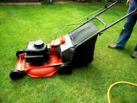 Petrol lawnmower flymo