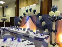 Wedding flowers/ chair covers & sashes