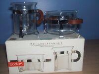 Bodum Glass Sugar & Cream set