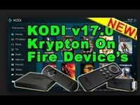 AMAZON FIRE STICK+ Voice Remote Latest KODI 17.1 KRYPTON + NEW 2017 NO LIMITS MAGIC FULLY LOADED
