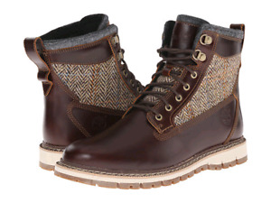 Size 9.5 Harris Tweed Burgundy Tims