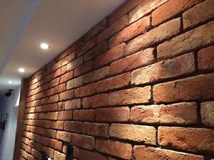 Brick Veneer, Siding, Backsplash, Accent Wall, Vintage Floor